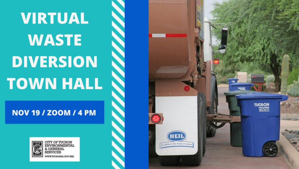 Virtual Waste Diversion Town Hall Flyer